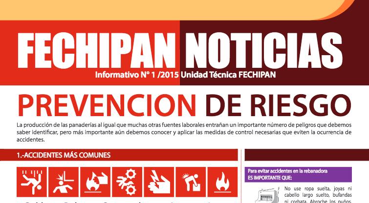 Fechipan lanza Newsletter de prevención de riesgos