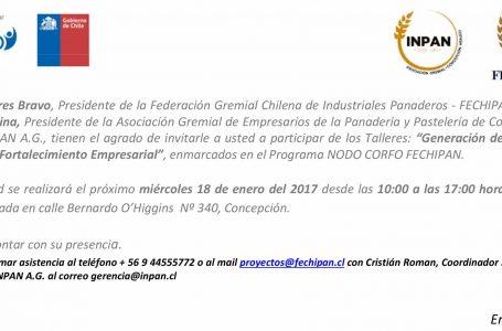 Invitación Taller FECHIPAN – INPAN Concepción
