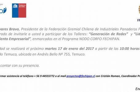 Invitación Talleres FECHIPAN Temuco